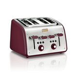 Tefal Maison Stainless Steel / Pomegranate Red toaster