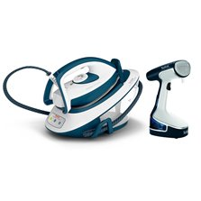 Tefal Express Compact SV7110 Steam Generator Iron & Steam BUNDLE - Teal / White
