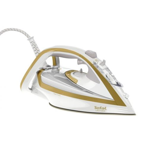 Tefal Steam Iron | Ultimate Turbo Pro Anti-Scale - White / Gold (FV5676G0)
